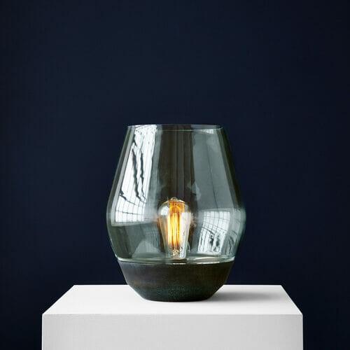 Bowl Table Lamp Verdigrised Copper1