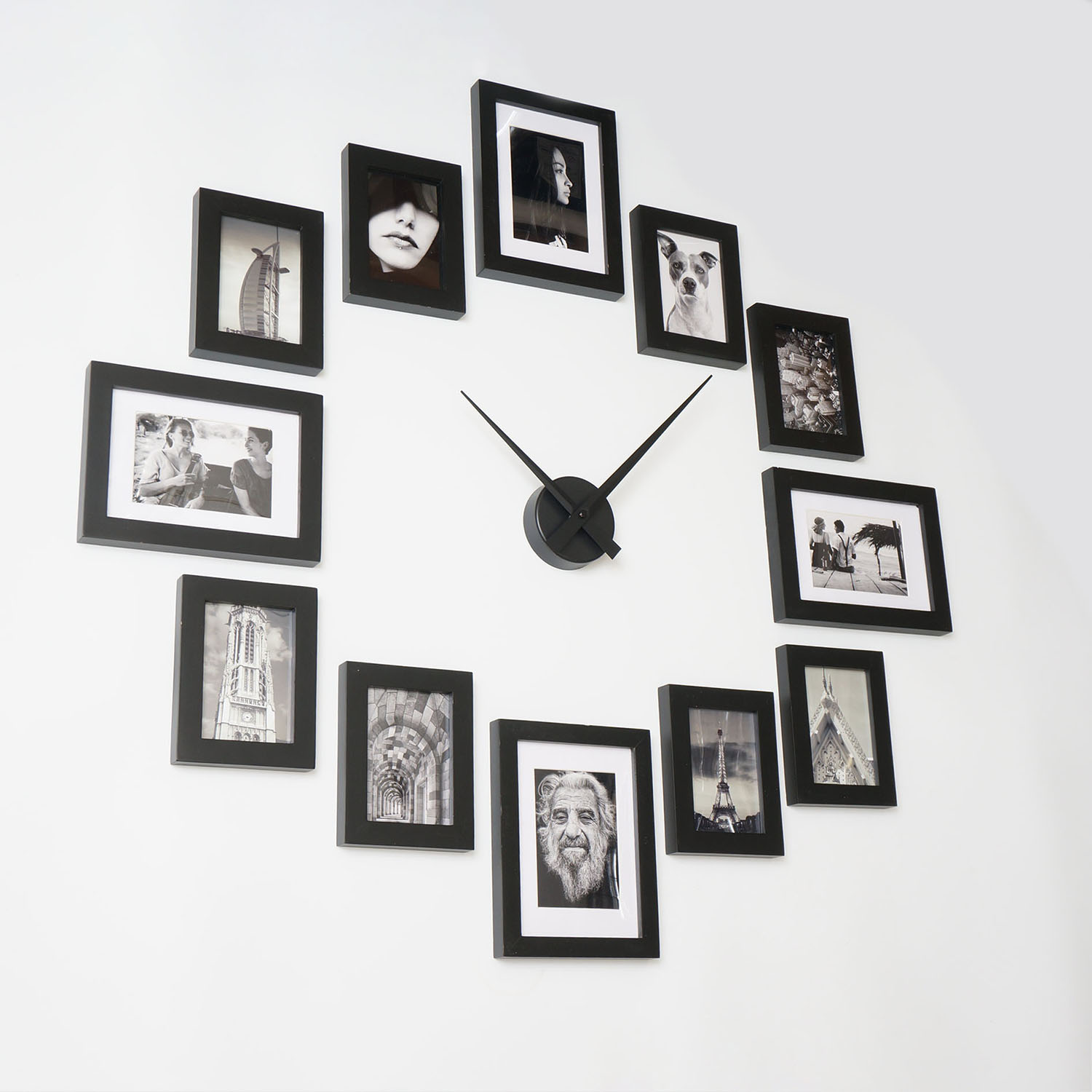 Picture Frame Clock 12 Black Homeloo