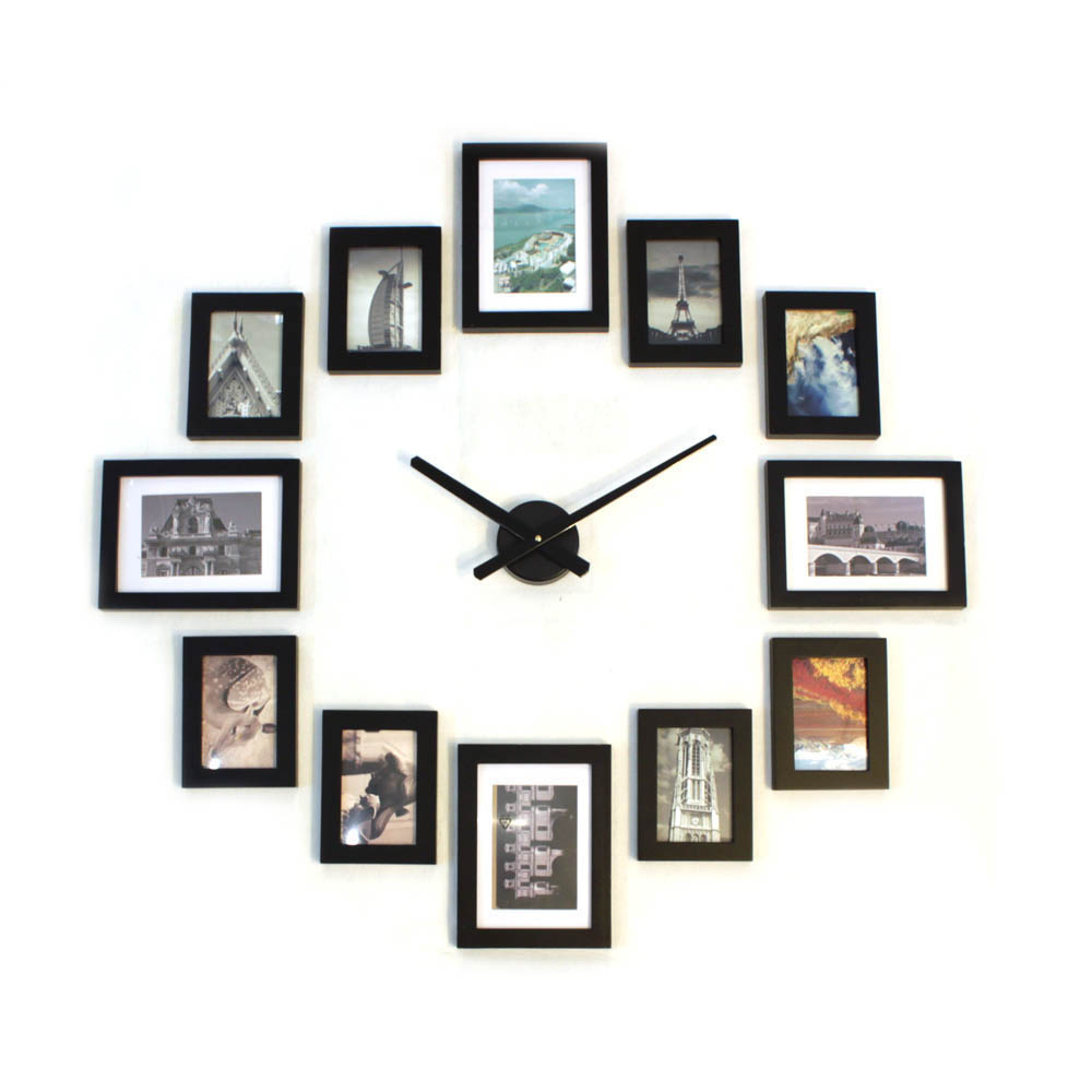 Photo Picture Wood Frame Wall Clock 12 U2013 Homeloo