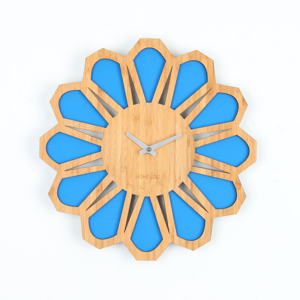 Loo Wall Clock Retro 70s Homeloo