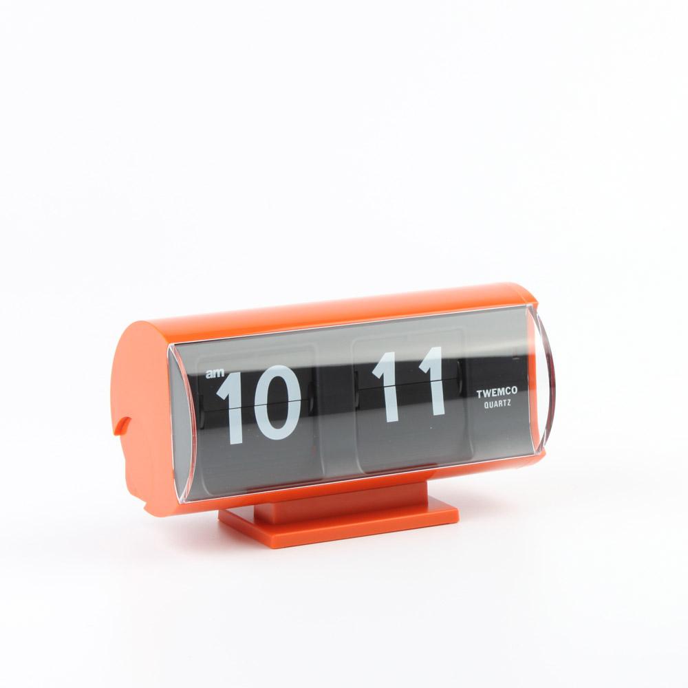 Twemco Flip Clock Qt 30t Orange Homeloo