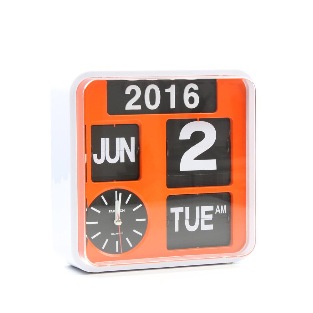Fartech wall flip clock s orange homeloo amipublicfo Choice Image