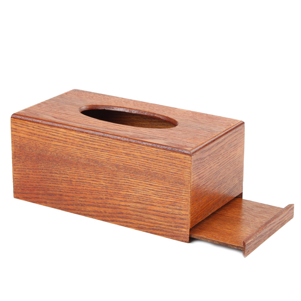 Vintage Wooden Tissue Box Cover Rectangular Homeloo