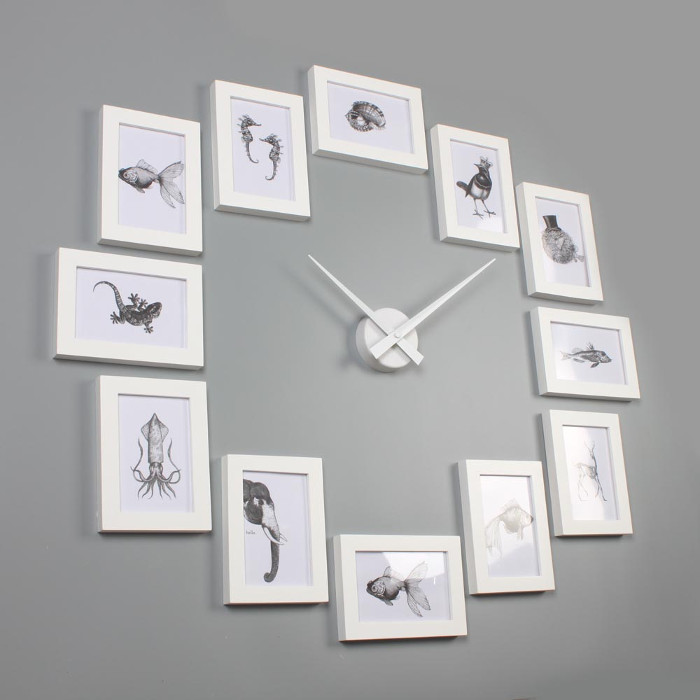 Good Picture Frame Clock 4R White U2013 Homeloo Design