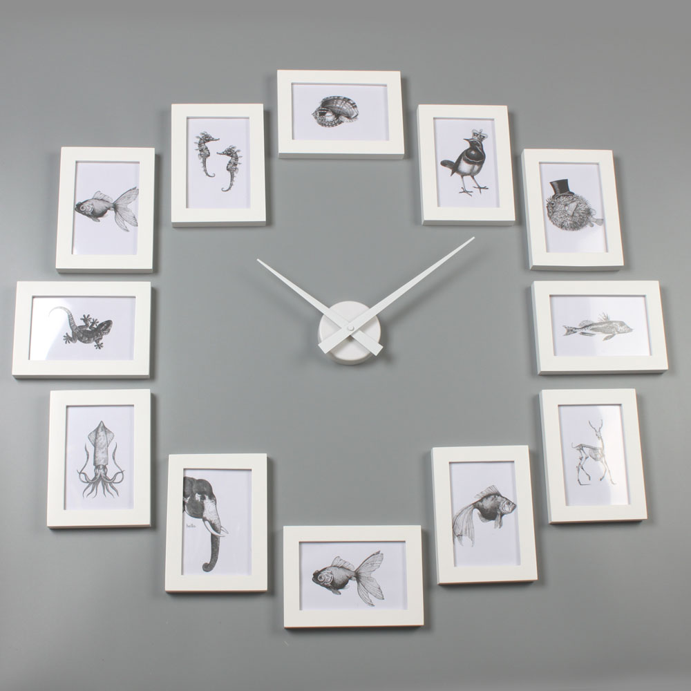 Picture frame clock 4r white homeloo amipublicfo Image collections