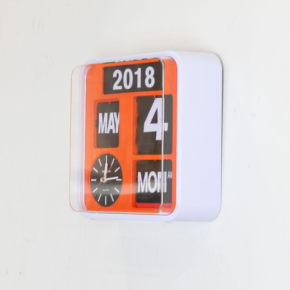 Fartech Wall Flip Clock S Orange Homeloo