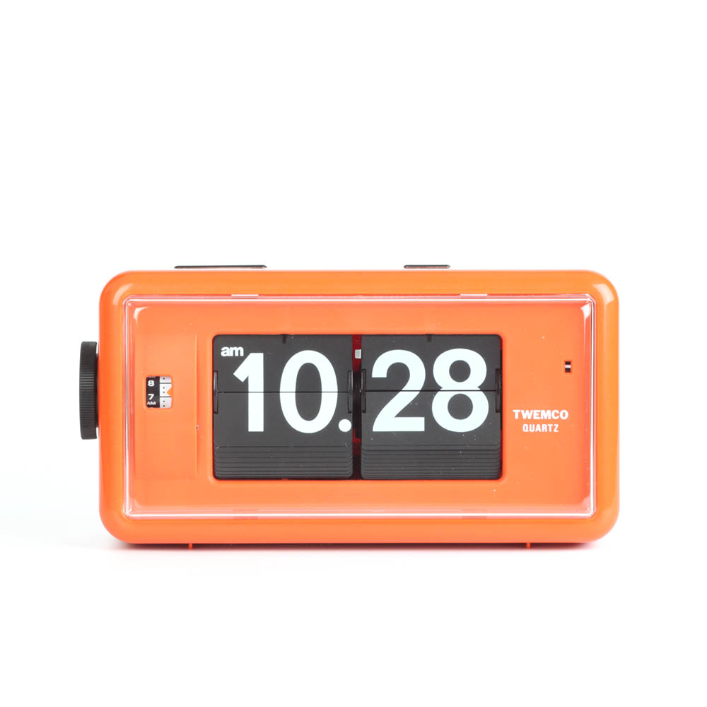 Twemco Alarm Flip Clock Al30 Orange Homeloo