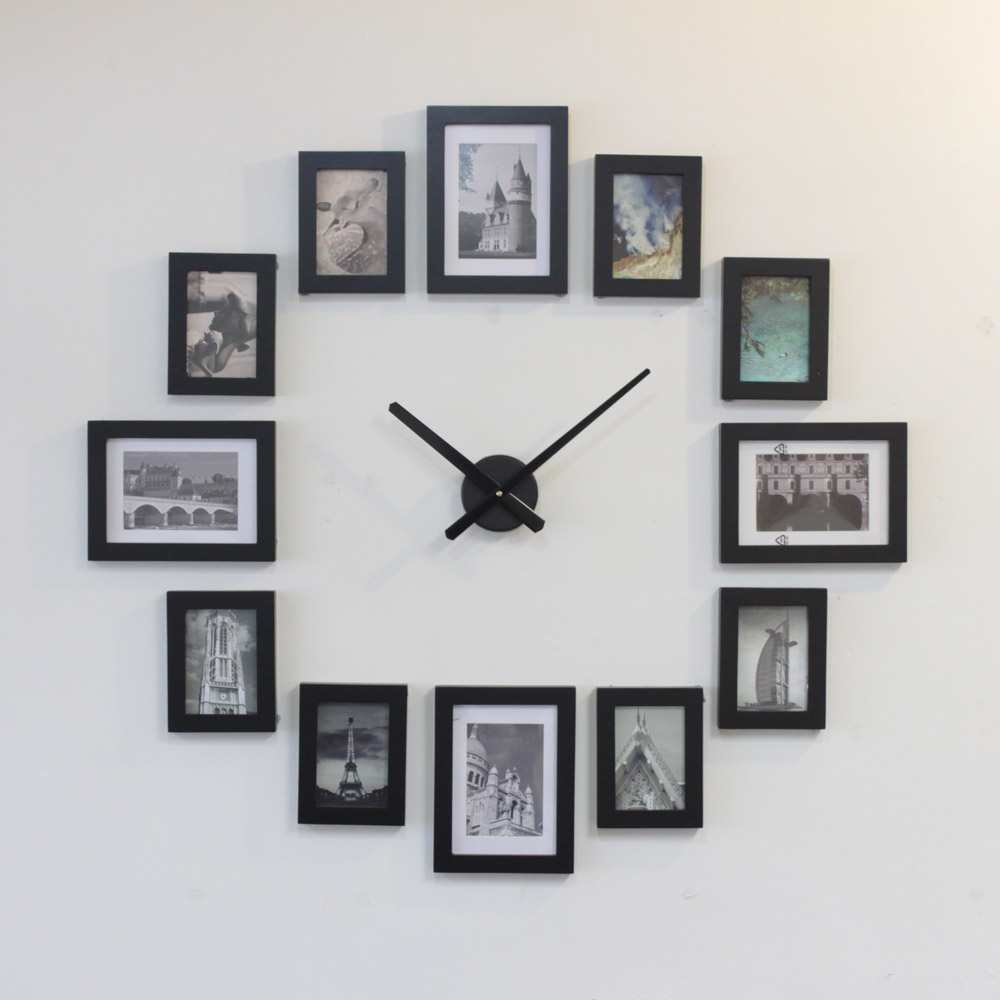 Like To Create A Photo Picture Frame Clock Yourself? Its Easy. We Have This  Set Ready For You To Put On Wall. No Measurement Is Necessary.