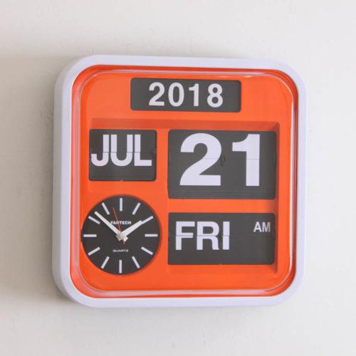 Fartech Wall Flip Clock (M) Orange