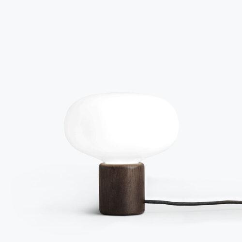 Karl-Johan Table Lamp Opal White Glass, Smoked Oak
