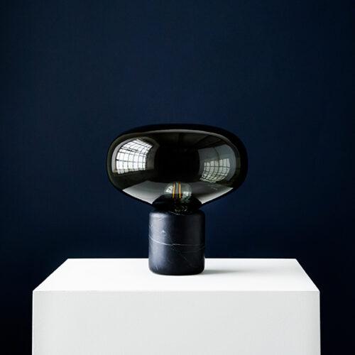 Karl-Johan Table LampSmoked Glass, Black Marquina1