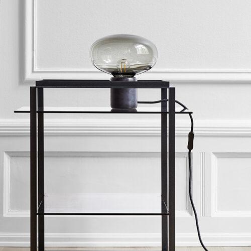 Karl-Johan Table LampSmoked Glass, Black Marquina2