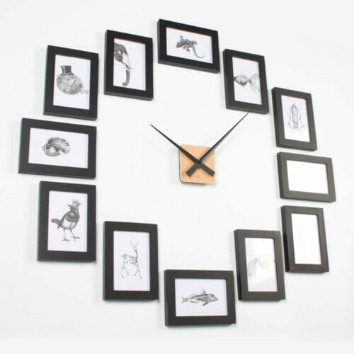 Picture Frame Clock 4R Black – Homeloo